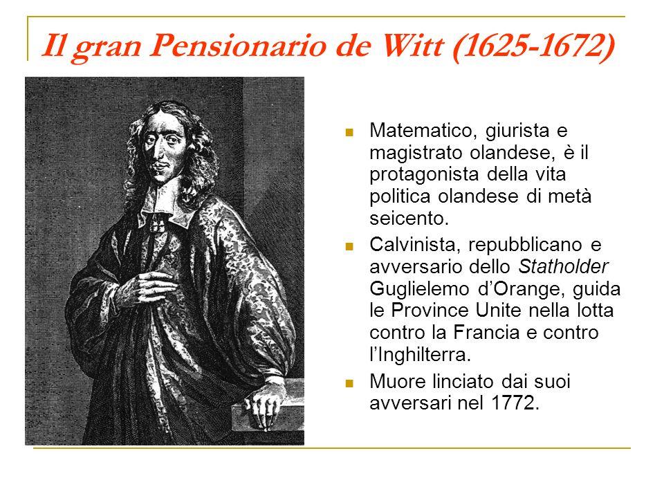Il gran Pensionario de Witt (1625-1672)