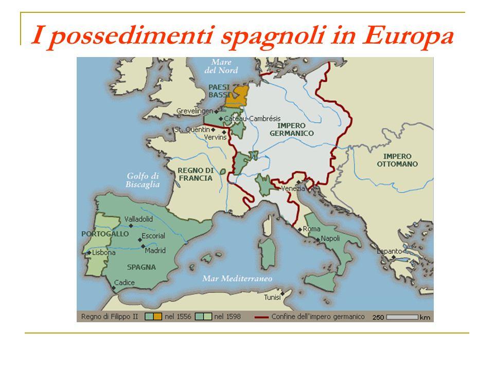 I possedimenti spagnoli in Europa