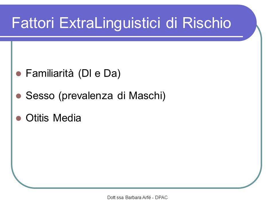 Fattori ExtraLinguistici di Rischio