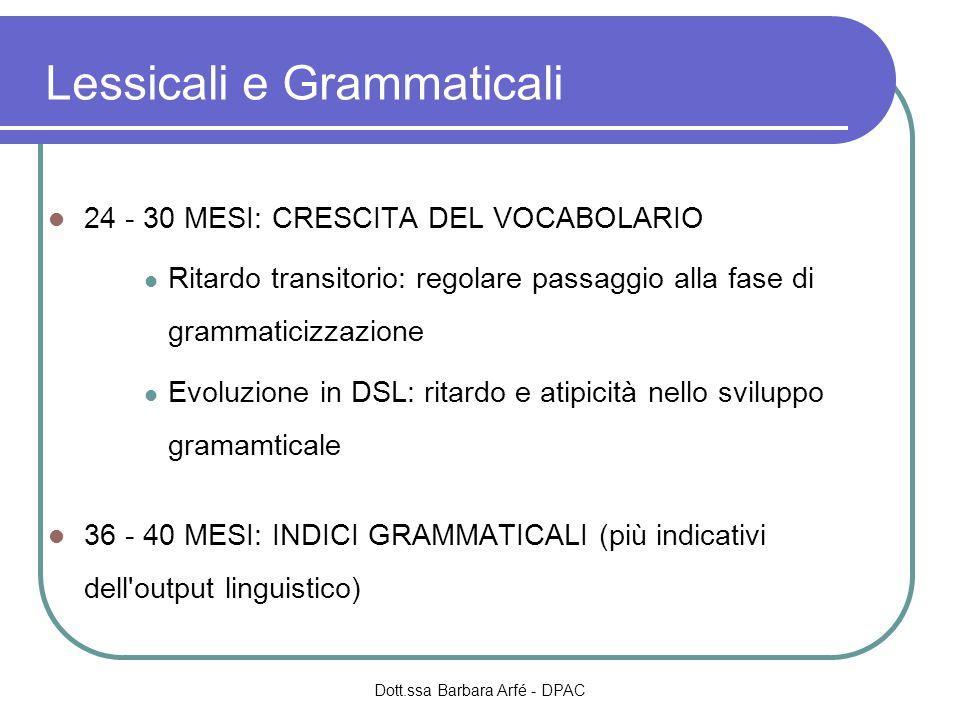 Lessicali e Grammaticali