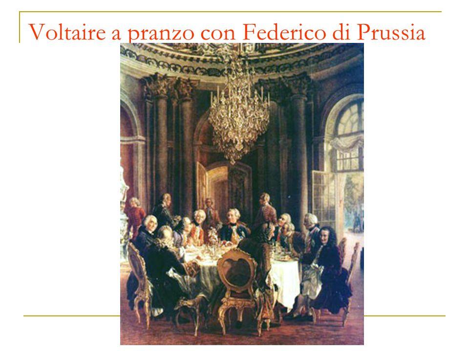 Voltaire a pranzo con Federico di Prussia