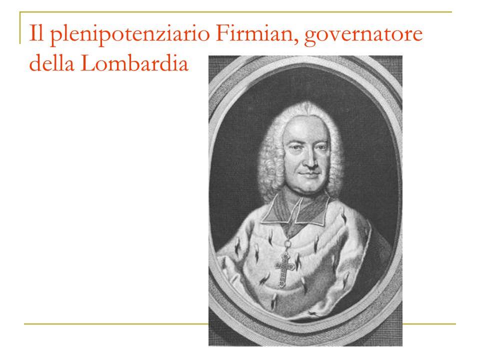 Il plenipotenziario Firmian, governatore della Lombardia