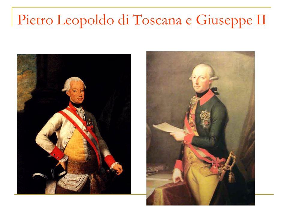 Pietro Leopoldo di Toscana e Giuseppe II