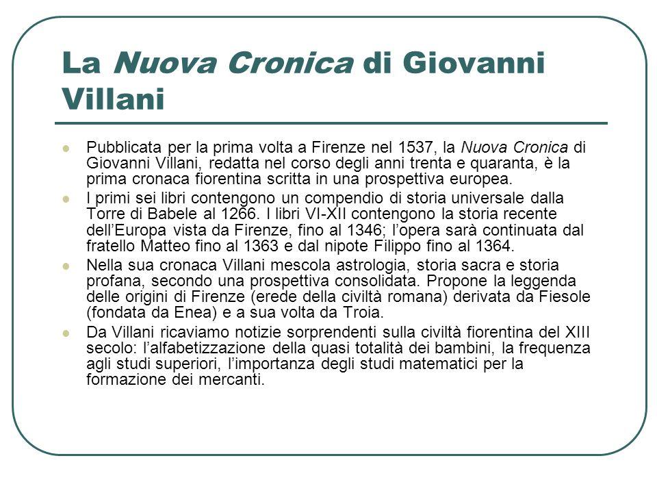 La Nuova Cronica di Giovanni Villani