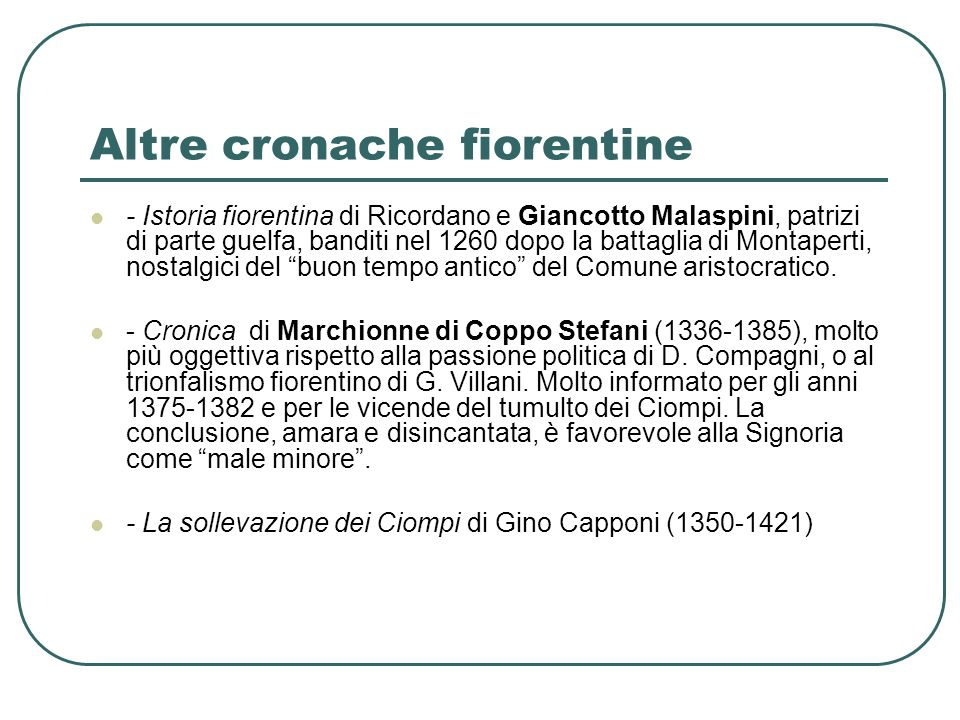 Altre cronache fiorentine