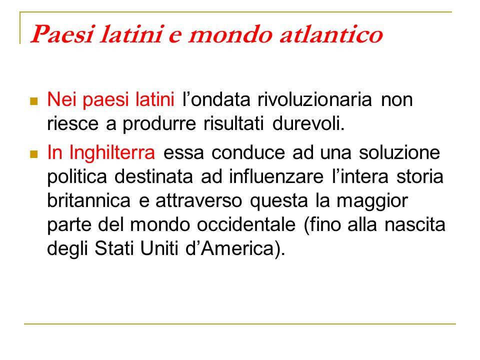 Paesi latini e mondo atlantico