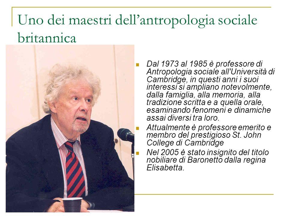 Uno dei maestri dell'antropologia sociale britannica