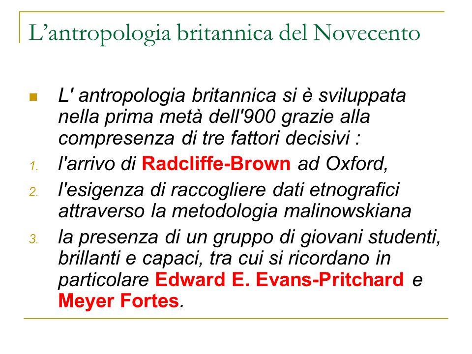 L'antropologia britannica del Novecento