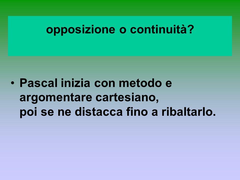 opposizione o continuità