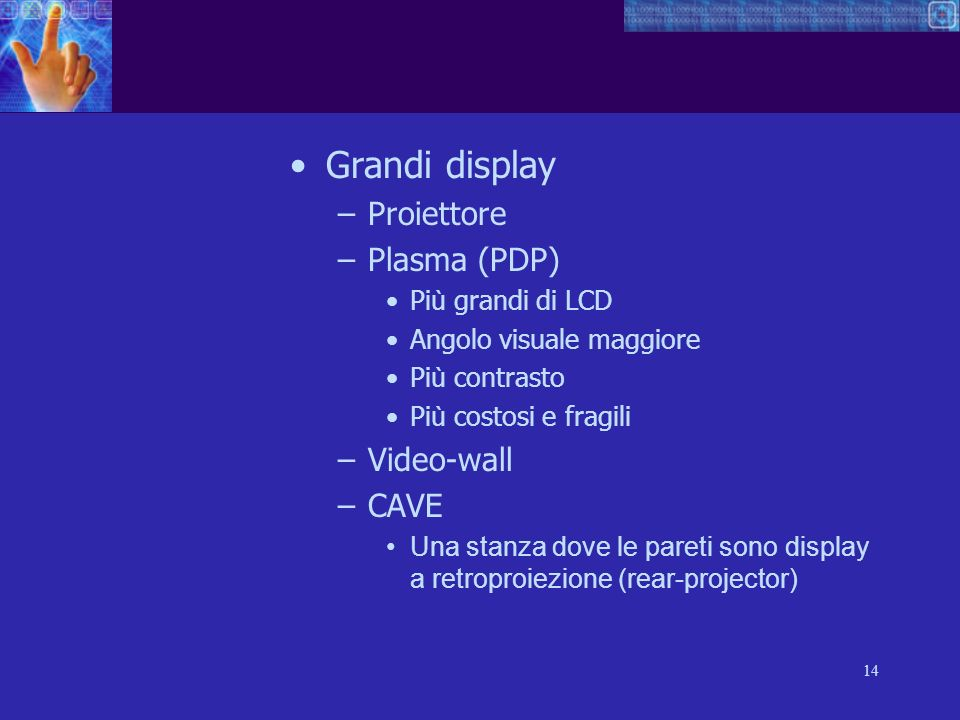 Grandi display Proiettore Plasma (PDP) Video-wall CAVE