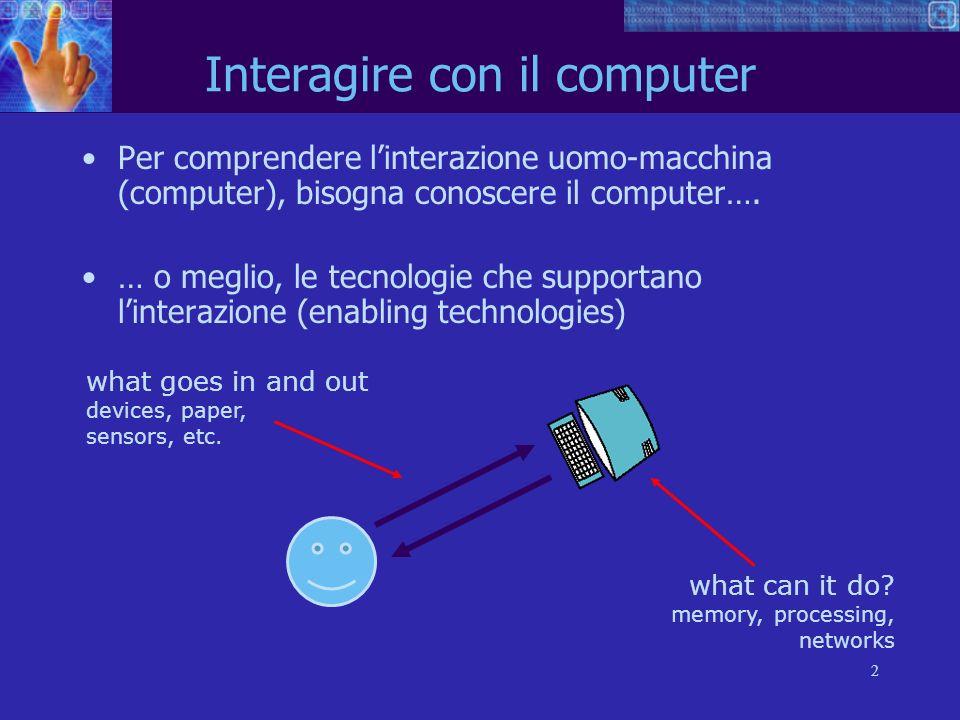 Interagire con il computer