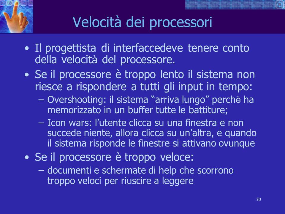 Velocità dei processori