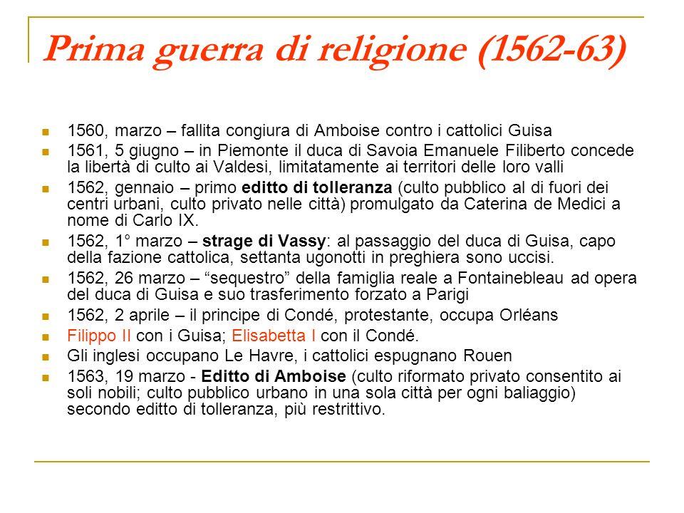 Prima guerra di religione (1562-63)