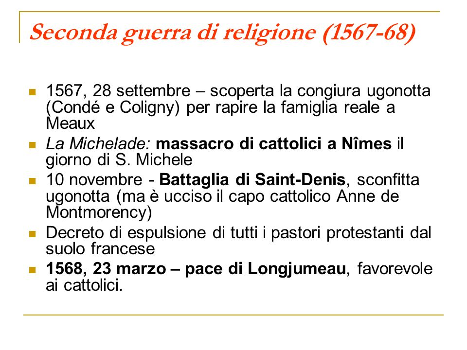 Seconda guerra di religione (1567-68)