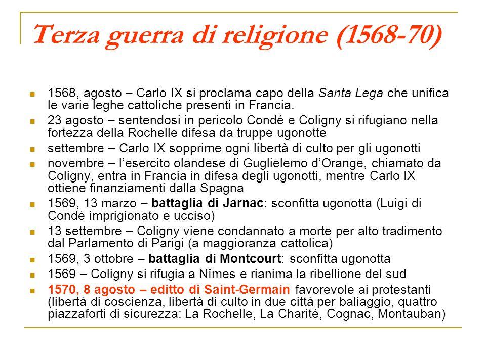Terza guerra di religione (1568-70)