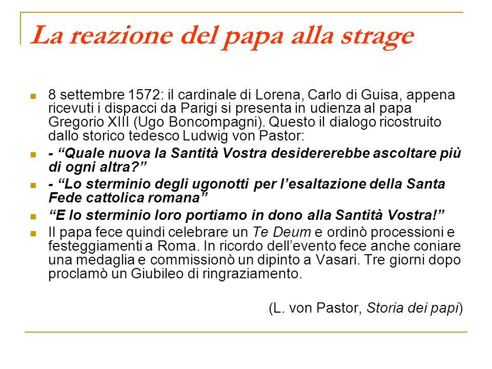 La reazione del papa alla strage
