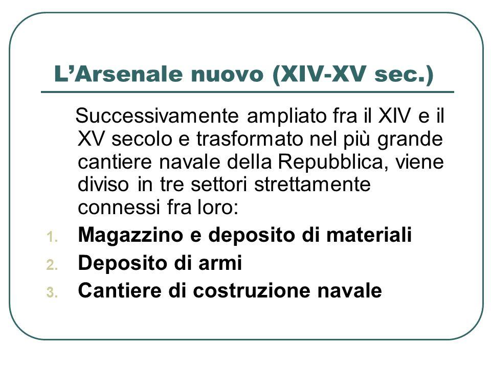 L'Arsenale nuovo (XIV-XV sec.)
