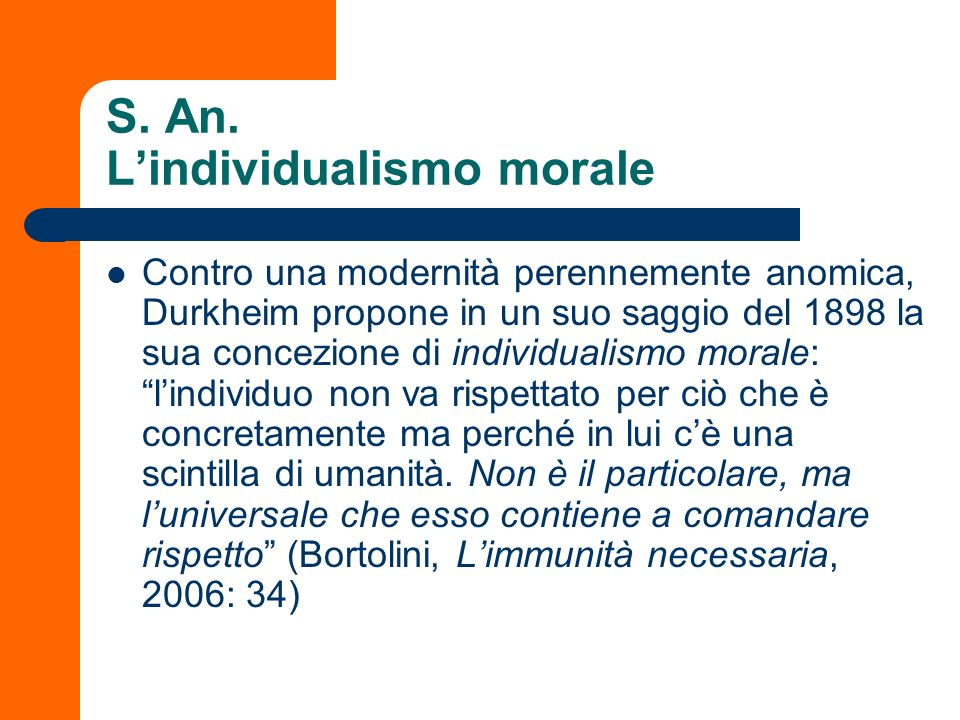 S. An. L'individualismo morale