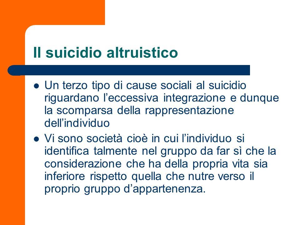 Il suicidio altruistico