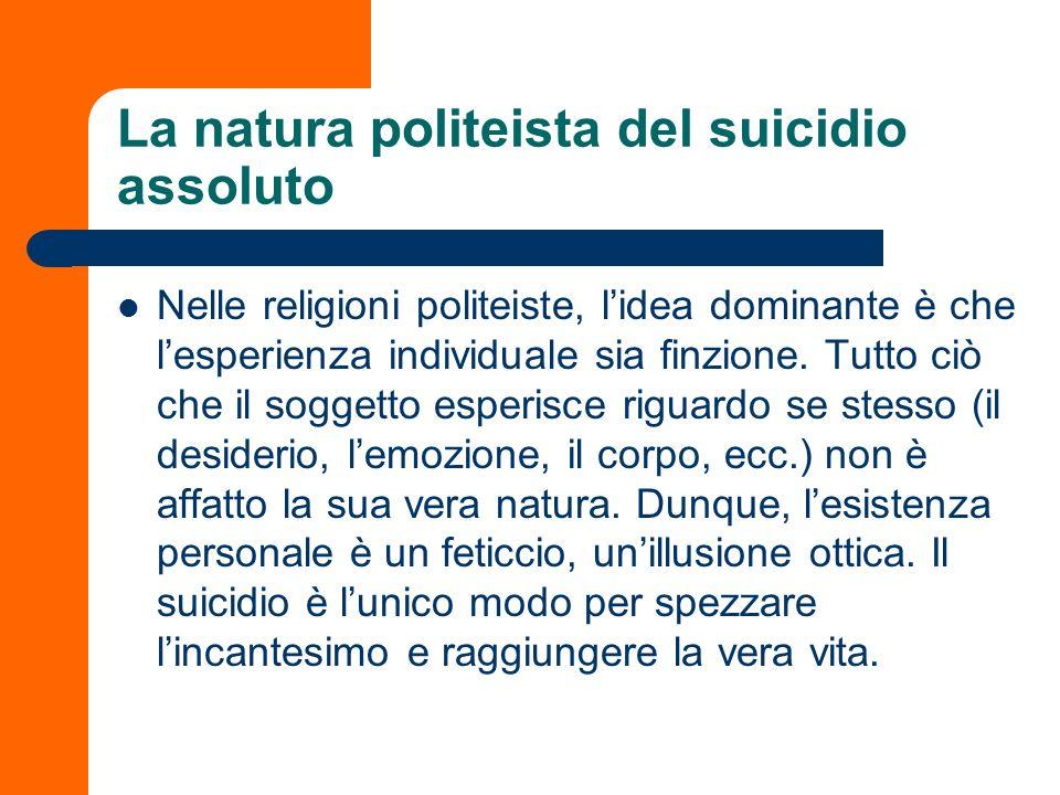 La natura politeista del suicidio assoluto
