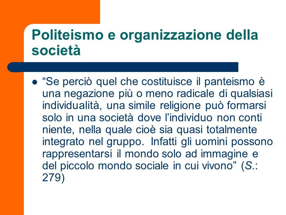 Politeismo e organizzazione della società