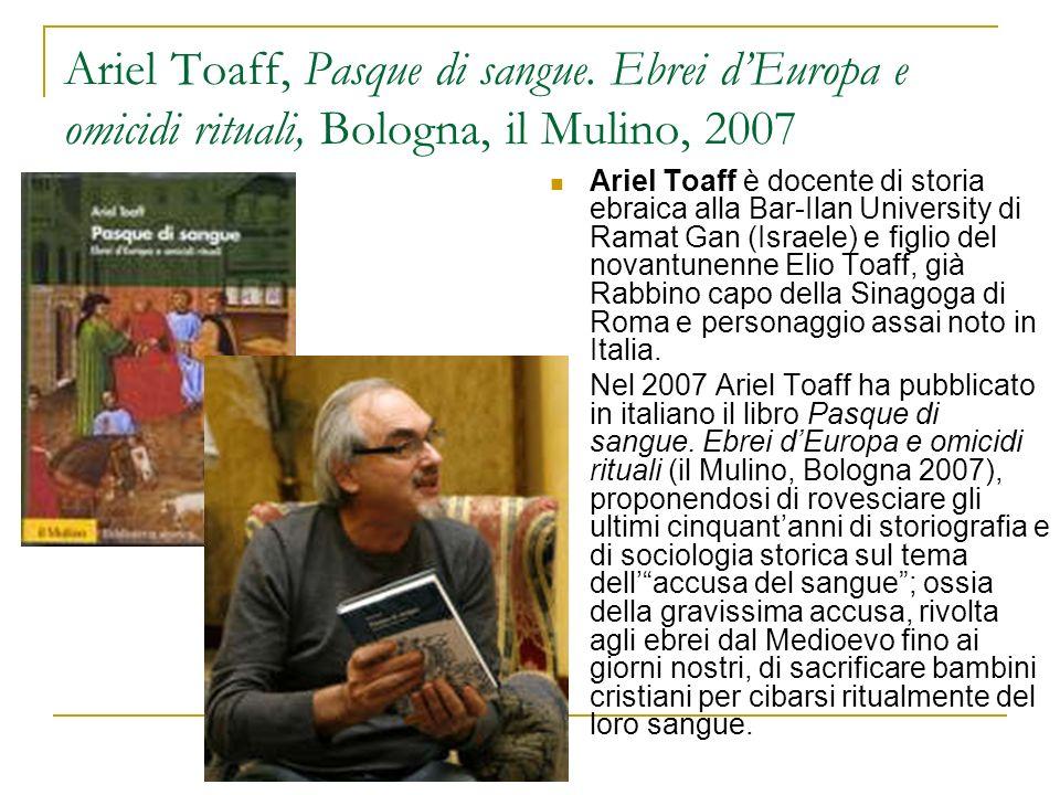 Ariel Toaff, Pasque di sangue