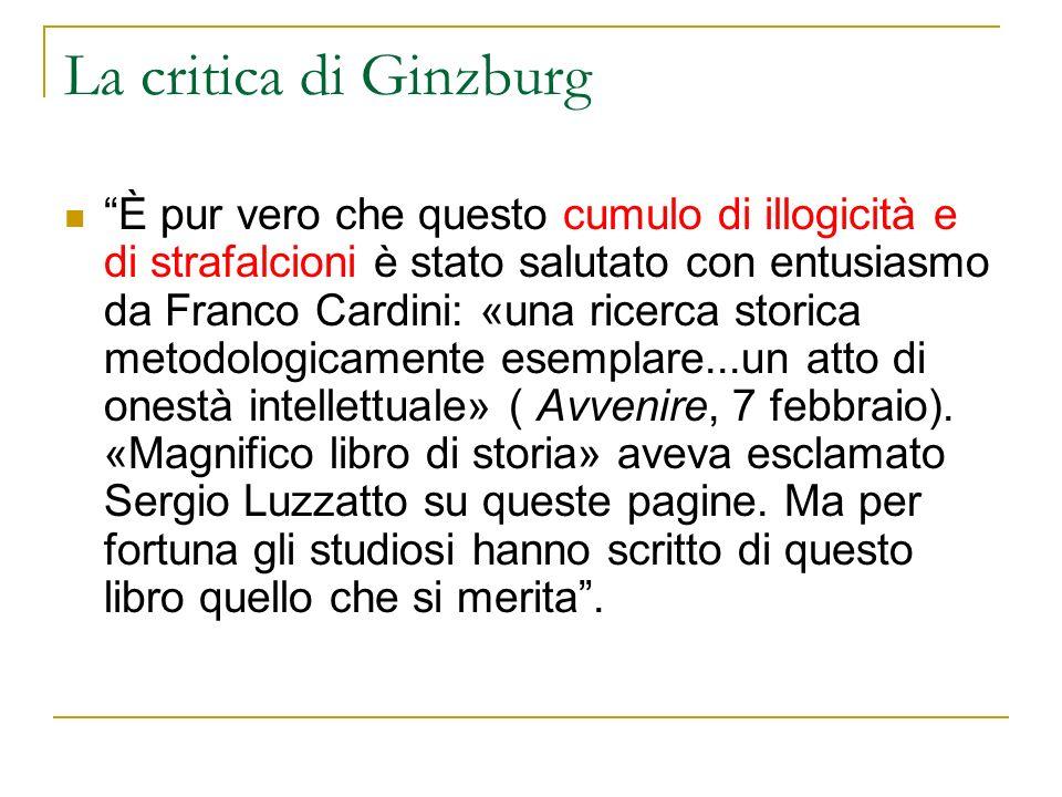 La critica di Ginzburg