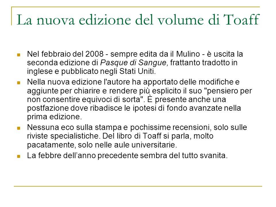 La nuova edizione del volume di Toaff