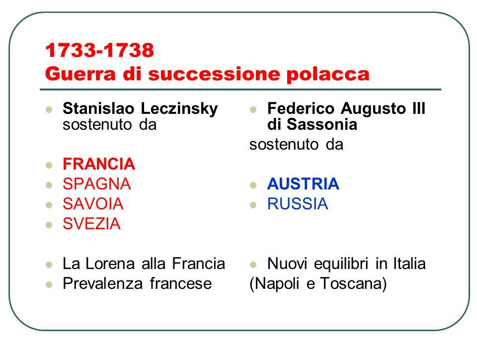 1733-1738 Guerra di successione polacca