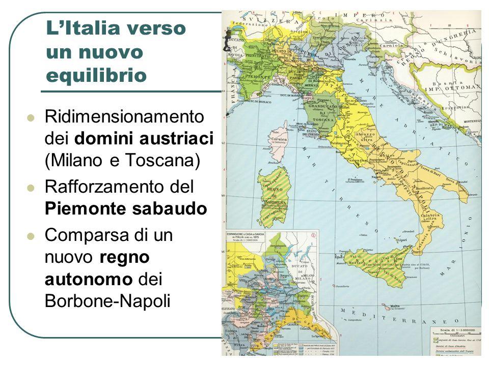 L'Italia verso un nuovo equilibrio