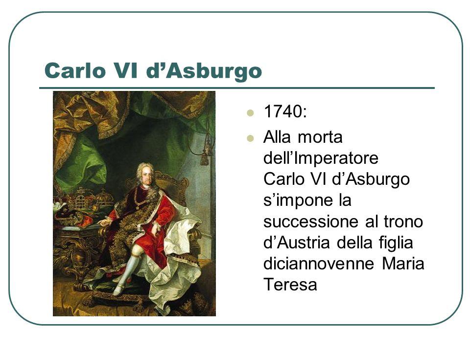 Carlo VI d'Asburgo 1740: