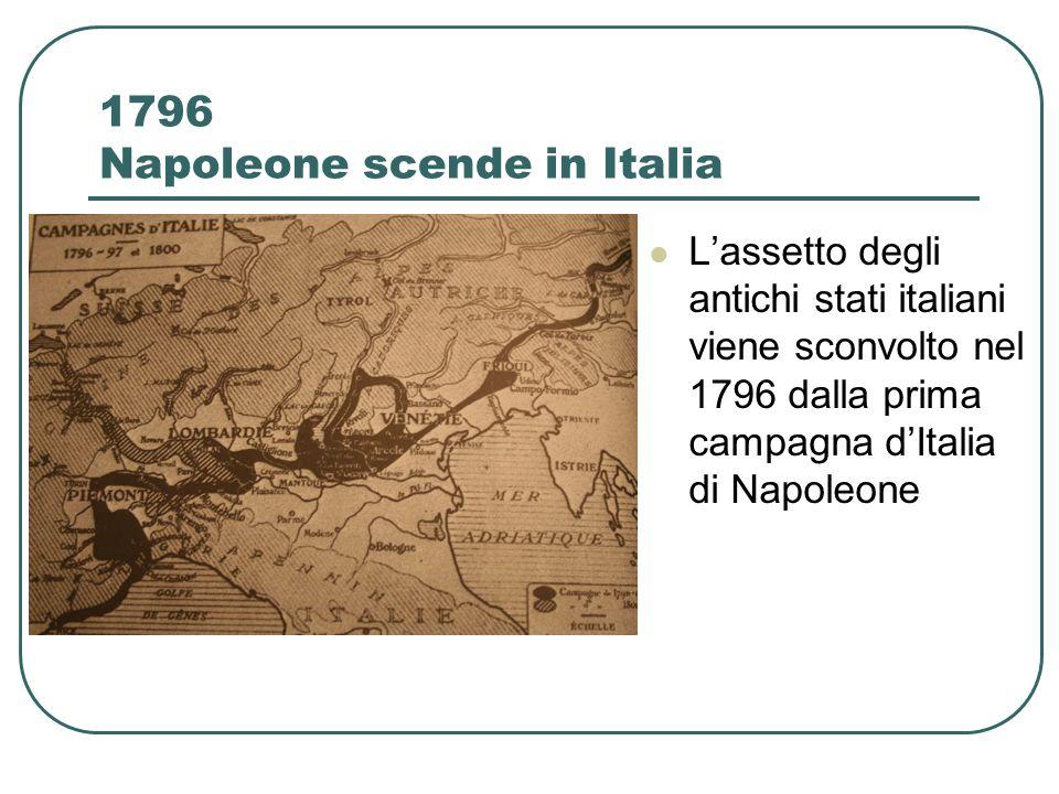 1796 Napoleone scende in Italia