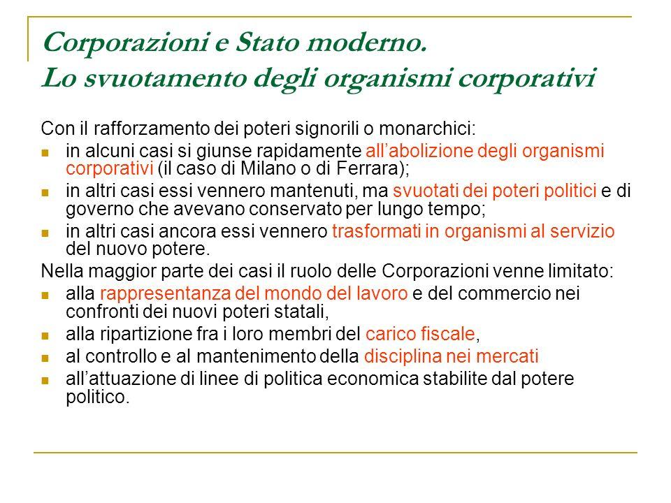 Corporazioni e Stato moderno