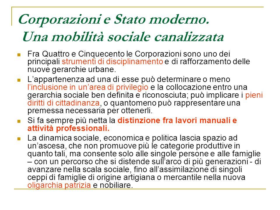 Corporazioni e Stato moderno. Una mobilità sociale canalizzata