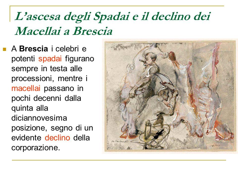 L'ascesa degli Spadai e il declino dei Macellai a Brescia