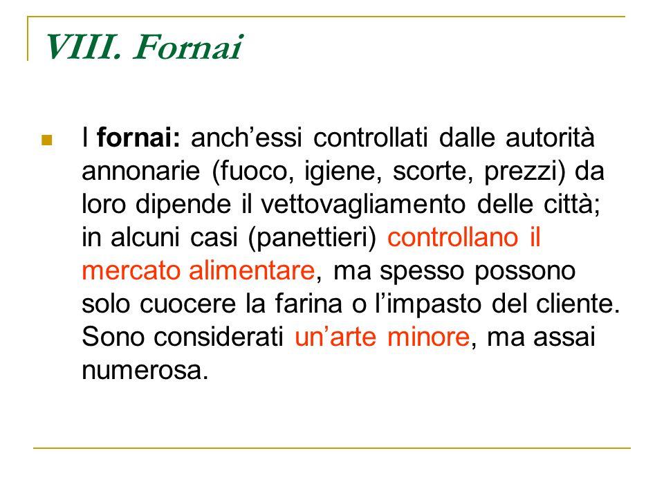 VIII. Fornai