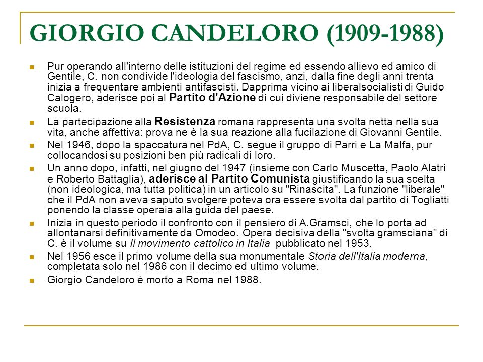 GIORGIO CANDELORO (1909-1988)