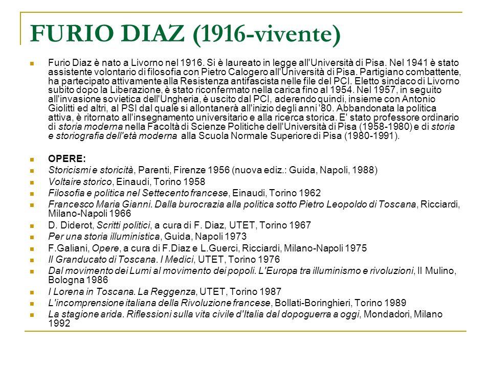 FURIO DIAZ (1916-vivente)