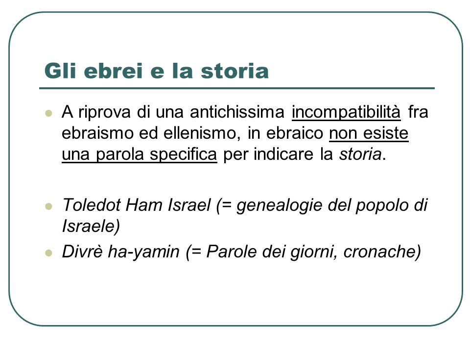Gli ebrei e la storia