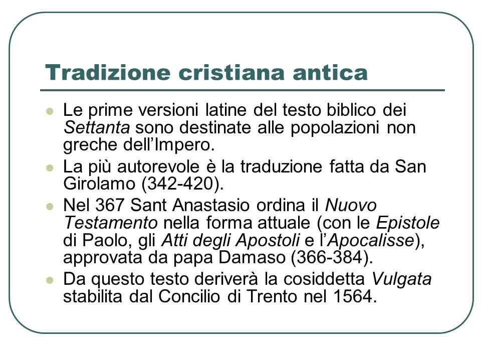 Tradizione cristiana antica