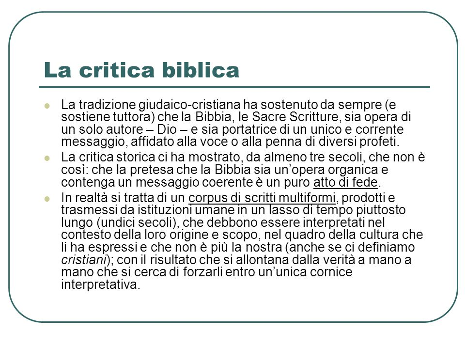 La critica biblica
