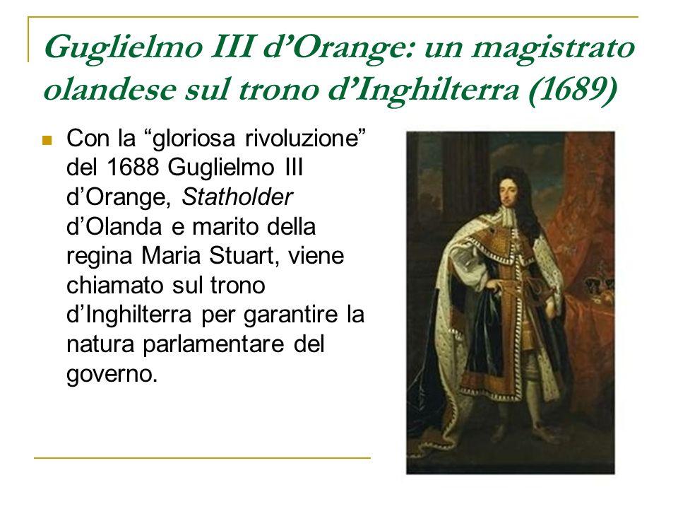 Guglielmo III d'Orange: un magistrato olandese sul trono d'Inghilterra (1689)