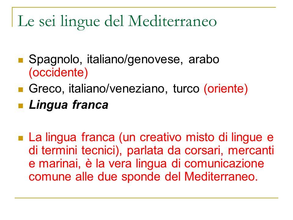 Le sei lingue del Mediterraneo