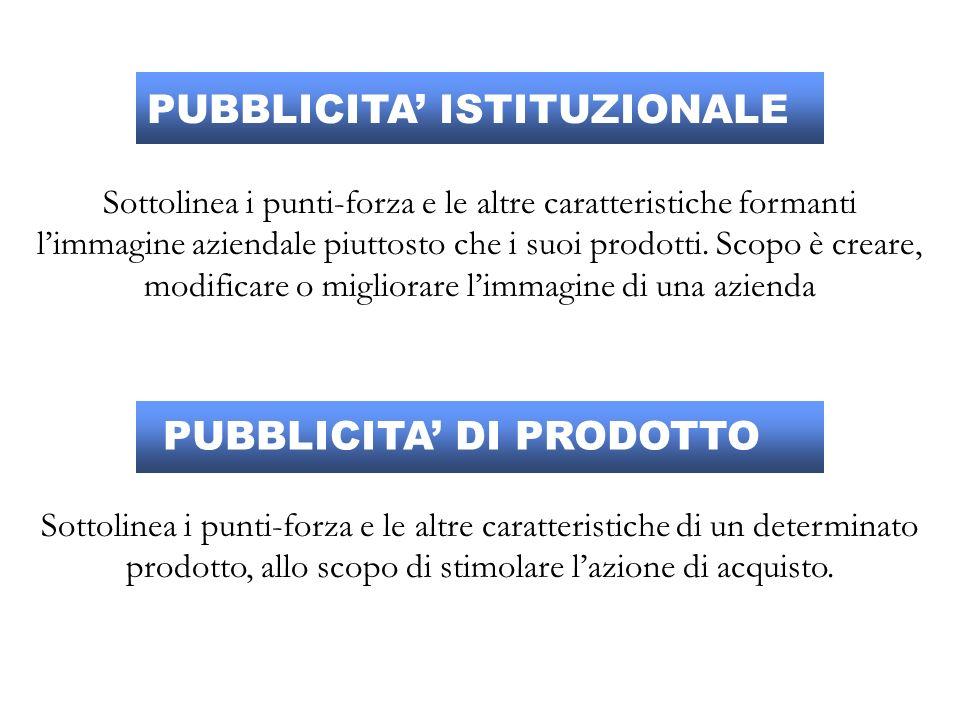 PUBBLICITA' ISTITUZIONALE