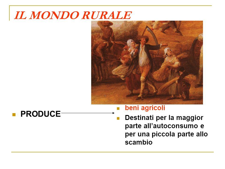 IL MONDO RURALE PRODUCE beni agricoli
