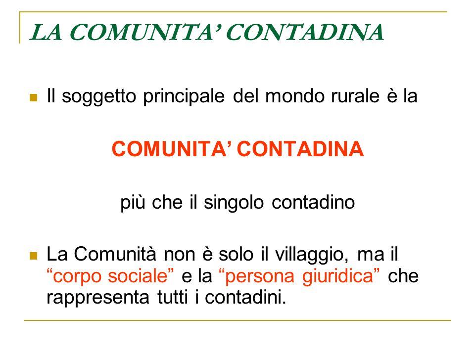 LA COMUNITA' CONTADINA