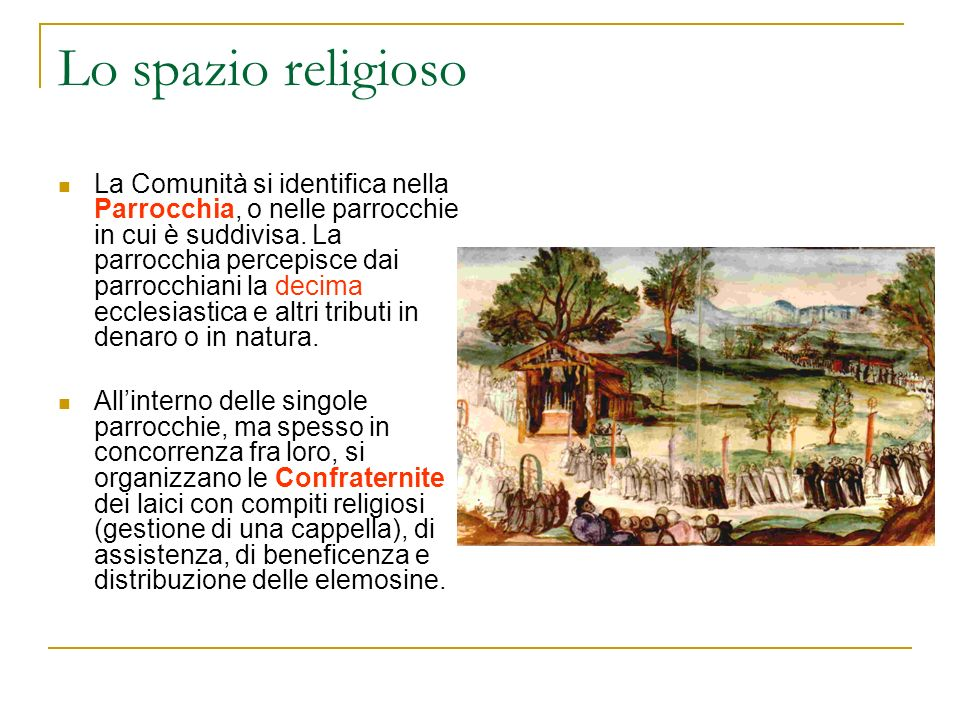 Lo spazio religioso