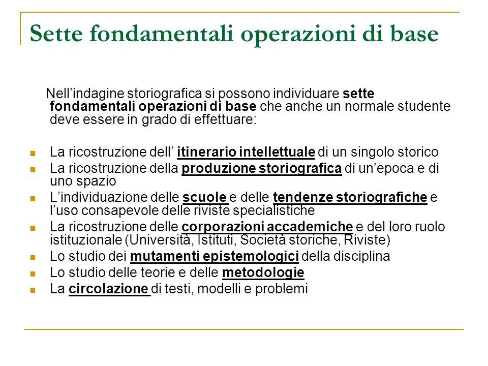 Sette fondamentali operazioni di base