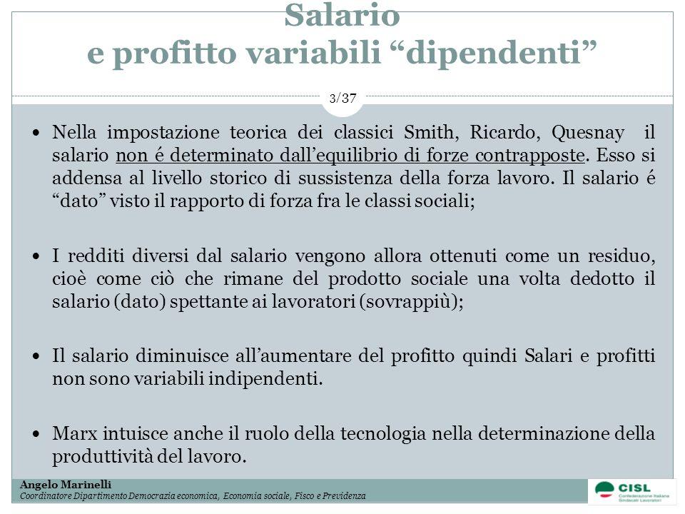 Salario e profitto variabili dipendenti