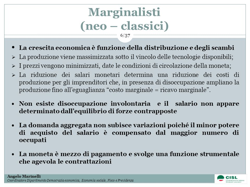 Marginalisti (neo – classici)